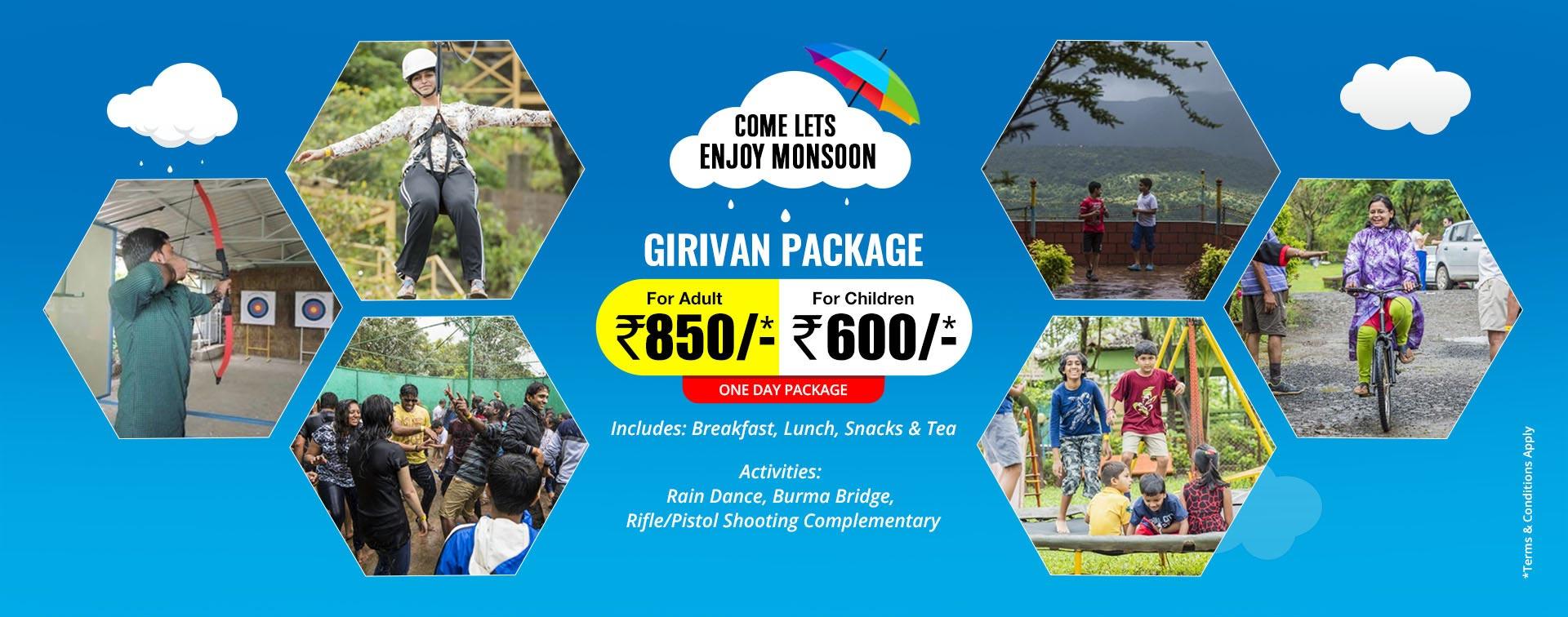 Girivan Picnic Resort, Mulshi, Pune